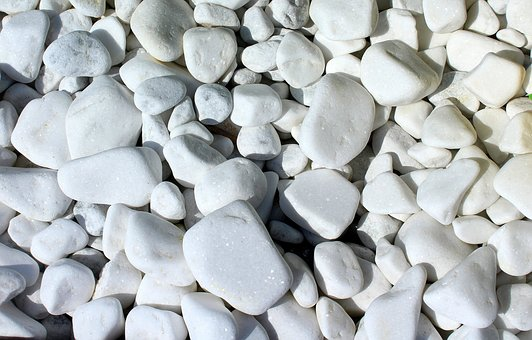 Pebbles, White, Batch, Model, Texture, The Background