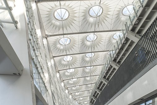 Glass, Architecture, Modern, Steel, Within, Ceiling