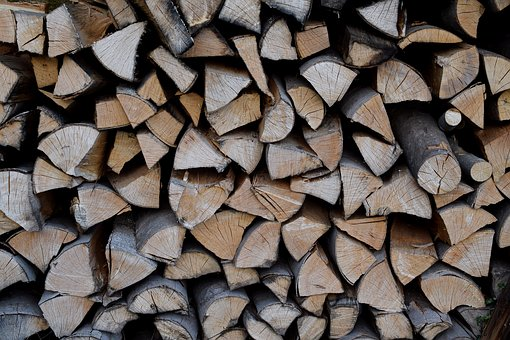 Wood Pile, Firewood, Wood For The Fireplace, Cut