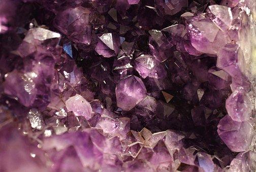 Crystal, Amethyst, Gem, Violet, Stone, Purple, Pink