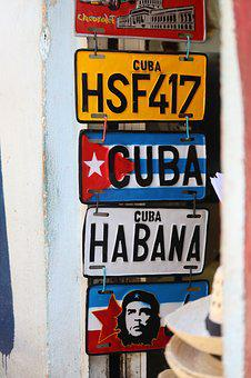 Sign, Text, Attention, Business, Plate, Cuba, Memory