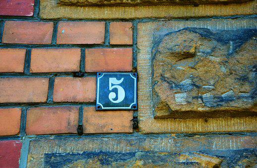 Hauswand, House Number, Wall, Brick, Old, Background