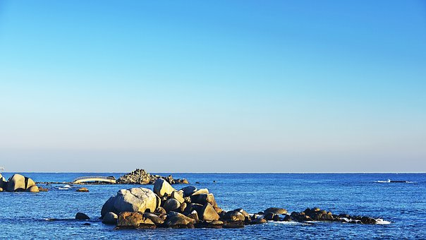 Rock, Sacheon Beach, Between The Tianjin Airport