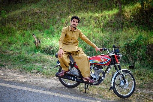 Bike, Wheel, Seated, Road, Biker, Lifestyle, Hurry