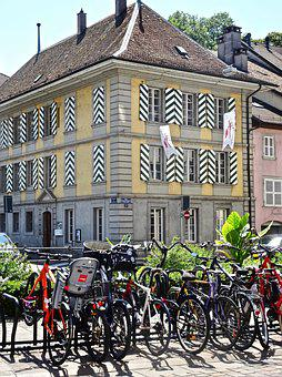 Bikes, Architecture, City, Old, Street, House, Europe