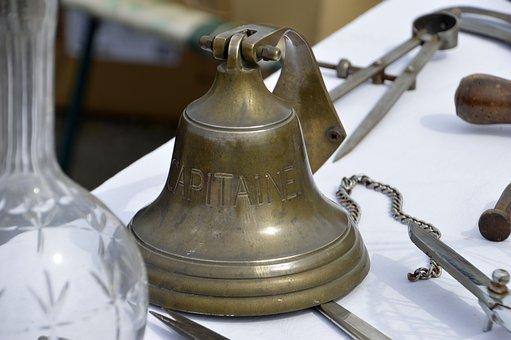 Bell, Bronze, Flea Market, Empty Attic, Captain, Marine