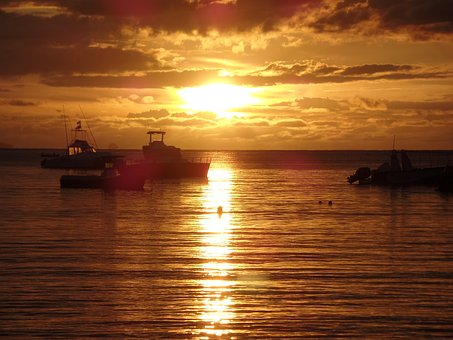 Sunset, Body Of Water, Dawn, Sea