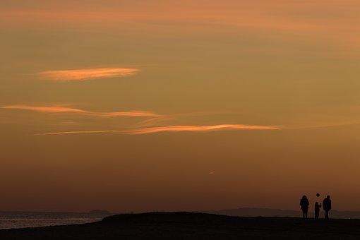 Sunset, Dawn, Sky, Sun, Open Air, Clouds, Silhouette