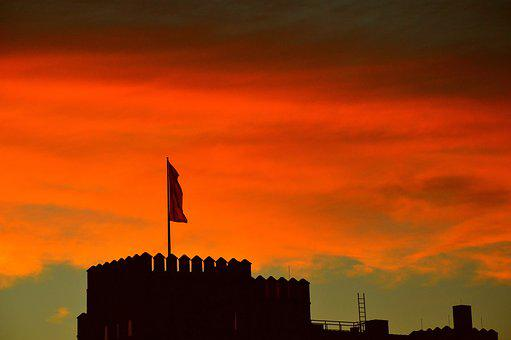 Sunset, Dawn, Dusk, Evening, Silhouette, Tower, Sky