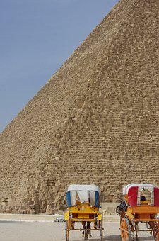 Egypt, Cairo, Giseh, Pyramid, Kephren, Carts, Travel