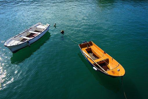 Sea, Boats, Bermeo, Boat, Costa, Fishermen