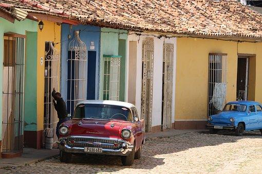 House, Roadway, Vehicle, Automobile, Street, Cuba