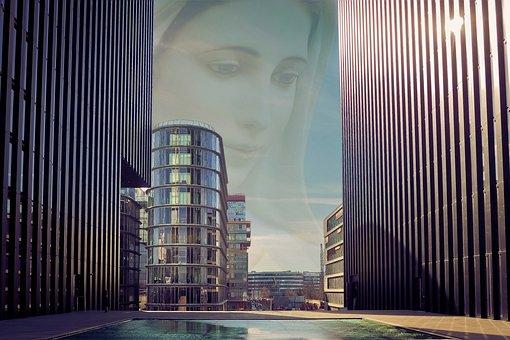 Mother Of God, Maria, Architecture, City, Skyscraper