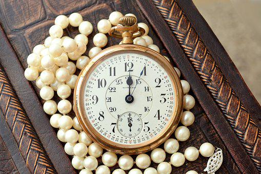Old, Antique, Vintage, Clock, Pearl, Watch, Time