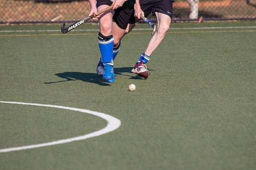 Hockey, Competition, Athlete, Ball, People, Motion