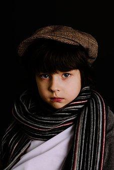 Boy, Scarf, One, Portrait, Fashion