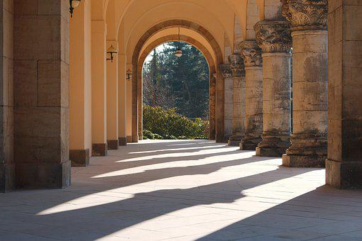 Architecture, Travel, Arch, Building, Road, Pillar