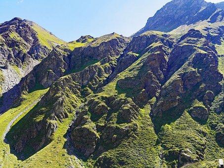 Alpine, Rock Formation, Schroff, Umbrail Pass