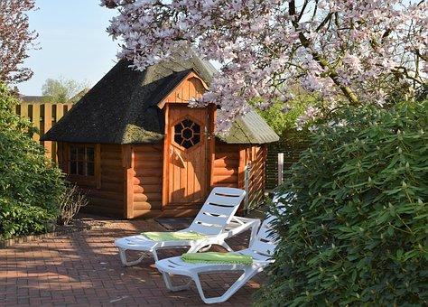 Wood, Home, Tree, Garden, Sauna, Outdoor Sauna