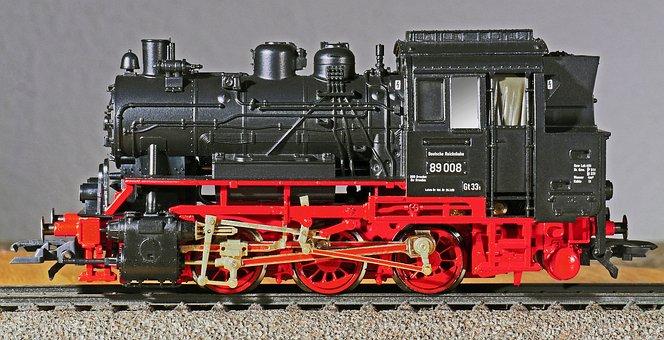Steam Locomotive, Model, Scale H0, Die-cast, Full Metal