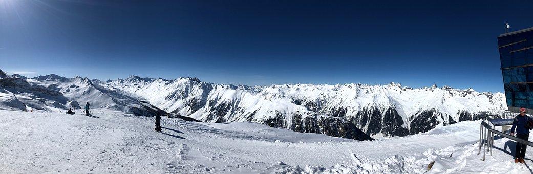 Ischgl, Runway, Winter, Skiing, Ski Area, Snow, Ski Run
