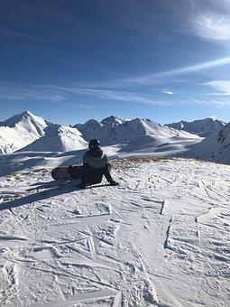 Snowboard, Snowboad Driver, Ischgl, Runway, Winter