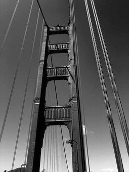 Architecture, Suspension Bridge, Steel, Business
