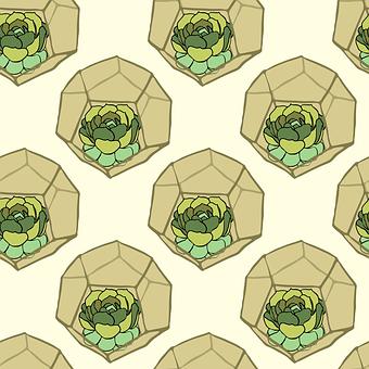 Cactus, Pattern, Background, Texture, Seamless Pattern
