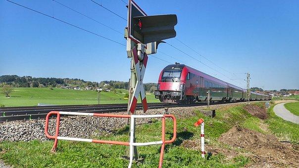 Sky, Grass, Industry, Travel, Railway, Train, Nature
