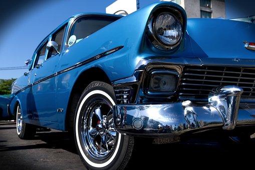 Auto, Vehicle, Transport System, Spotlight, Drive, Cuba