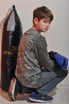 Man, One, Young, Grown Up, Portrait, Sports, Boxing