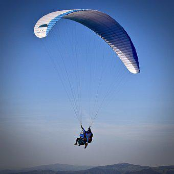 Paragliding, Parachute, Skydiving, Fly, Air, Sport