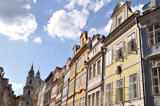 Prague, Old Town, Art Nouveau, Architecture, Old