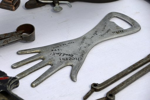 Steel, Tool, Bottle Opener, Flea Market