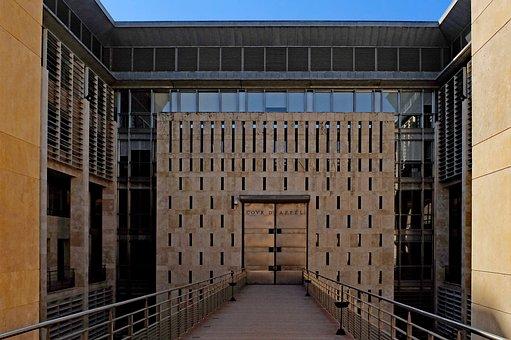 Building, Architecture, Modern, Judgment, Justice, Door