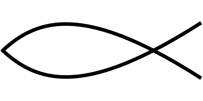 Christian, Fish Symbol, Jesus, Christ, Catholic