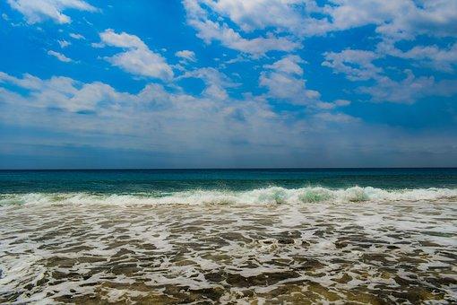 Sea, Sky, Clouds, Nature, Waves, Cloudy, Horizon
