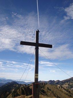 Cross, Sky, Crucifixion, Mountain, Resurrection