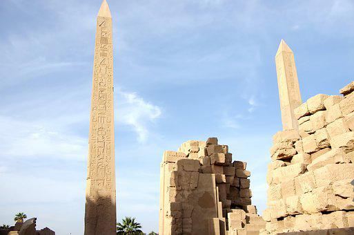 Egypt, Karnak, Statue, Obelisk, Architecture, Antique