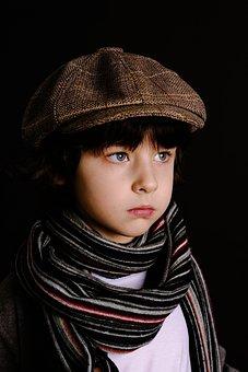 Scarf, Fashion, One, Portrait, People, Boy Model, Man