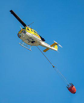 Firefighting Helicopter, Helicopter, Sky, Chopper, Fly