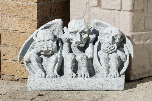 See No Evil, Say No Evil, Hear No Evil, Gargoyles