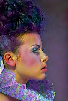 Portrait, Beautiful, Fashion, Girl, Woman, Young, Model