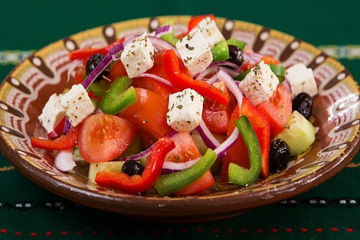 Food, Plate, Greek Salad, Caprese, Meal, Vegetables