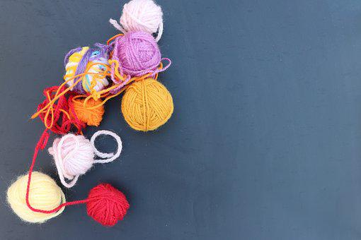 Desktop Background, Color, Wool, Knitting, Hooks