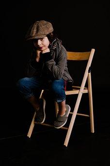 Clothing, Advertising, Children Model, In Full Growth