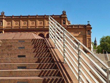 Kunsthalle, Hamburg, Stairs, Railing, Architecture