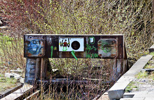 Buffer Stop, Brake Buffer Stop, Lost Places