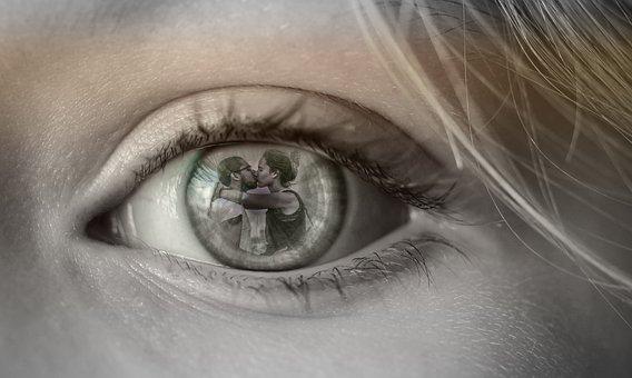Eye, Couple, Love, Betrayal, Desire, Vista, Photoshop