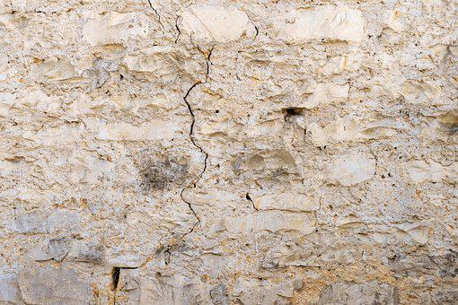 Masonry, Natural Stone, Plaster, Cracks, Facade, Wall